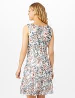 Sleeveless Empire Waist Double Flouce Dress - Ivory - Back