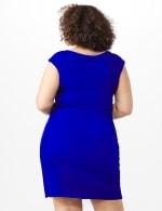 Cap Sleeve Wrap Dress - Deep Cobalt - Back