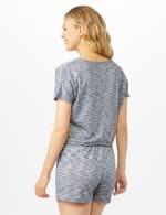 Space Dye French Terry Knit Top - Indigo - Back