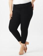 5 Pocket Skinny Ankle Length Jeans - Black - Front