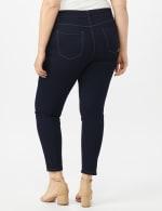 5 Pocket Skinny Ankle Length Jeans - Dark Wash - Back