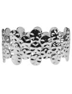 Hammered Casting Stretch Bracelet - Silver Plating - Back
