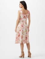 Rose Floral Emma Style Sleeveless Chiffon Dress - Rose - Back