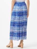 Elastic Waist Crinkle Pull On Skirt - Royal Blue - Back