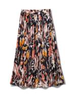 Long Crinkle Skirt - Black Multi - Front
