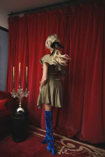 Sofia Dress - Olive - Back
