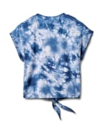 """""""Dream"""" Tie Dye Tie Front Top - Blue - Back"""