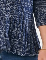 Roz & Ali Marled Button Cardigan - Navy Combo - Detail