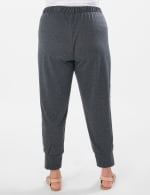 Jogger Knit Pant With Camouflage Trim - Plus - Charcoal - Back