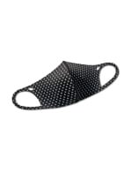 Diamond Anti-Bacterial Fashion Face Mask - Black/White - Front
