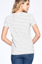 Essential Stripe Tee - Navy / Ivory - Back