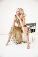 Maxi Wrap Skirt in Zebra Sheer - Yellow - Back