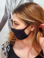 Pre-Order Men/ Women /Children Contoured Washable Cotton Face Masks - Black - Front