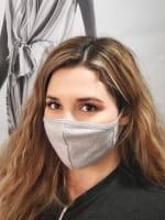 Pre-Order Men/ Women /Children Contoured Washable Cotton Face Masks - Heather Gray - Front