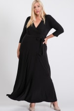 Ruffled With Love Wrap Maxi Dressd - Black - Back