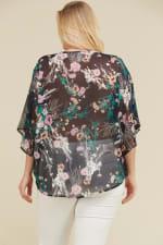 Freestyle Kimono - Teal / Black - Back