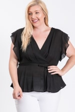 The Not So Classic Buttoned Top - Black - Back