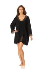 Anne Cole® Crochet Mixer Swimsuit Cover-Up - Black - Front