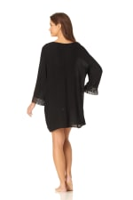 Anne Cole® Crochet Mixer Swimsuit Cover-Up - Black - Back