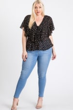 Have A Break Floral Top - Black - Front