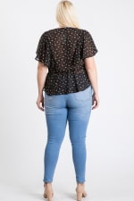 Have A Break Floral Top - Black - Back