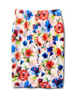 Printed Pull On Scuba Crepe Skirt - Sugar Swizzle - Back