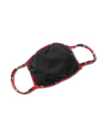 Red Plaid Fashion Mask - Red - Back