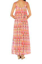 Caribbean Joe® Double Layer Maxi Dress - Bittersweet - Back
