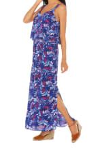 Caribbean Joe® Double Layer Maxi Dress - Blue - Detail