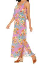 Caribbean Joe® Double Layer Maxi Dress - Pink - Detail