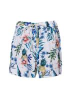 Caribbean Joe® Tropical Pull-On Shorts - Blue - Front