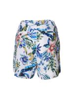 Caribbean Joe® Tropical Pull-On Shorts - Blue - Back