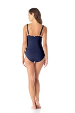 Anne Cole® Live in Color Underwire Tankini Swimsuit Top - Navy - Back