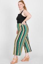 Colorful Nylon Striped Romper - Green - Detail