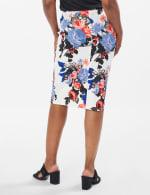 Printed scuba crepe skirt - Sugar Swizzle/Pink Gin - Back