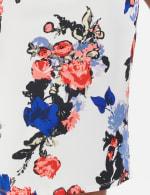 Printed scuba crepe skirt - Sugar Swizzle/Pink Gin - Detail