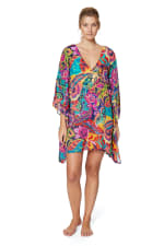 Tahari® Paris Floral Tunic Swimsuit Cover-Up - Multi - Front