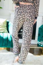 Leopard Print Pants - Mocha - Back