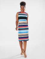 Stripe Dress - Multi - Front