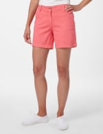 Fly Front Slant Pocket Shorts - Raspberry - Front