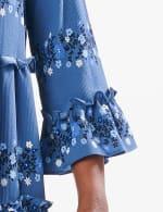 Ditsy Floral Baby Doll Dress - Denim Blue - Detail
