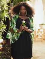 Fern Chiffon Jacket Dress - Green Multi - Front