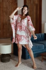 Nusa Cover-Up - Tie Dye Pink - Front