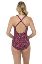 Penbrooke Baby Spice Cross Back One Piece Swimsuit - Brick - Back