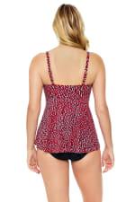 Penbrooke Baby Spice Flounce Tankini Swimsuit Top - Brick - Back