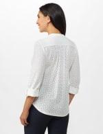 Eyelet Knit Pintuck Popover - White - Back