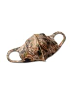 Fall for Paisley Anti-Bacterial Fashion Face Mask - Olive - Front