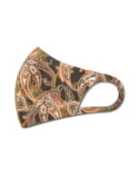 Fall for Paisley Anti-Bacterial Fashion Face Mask - Olive - Detail