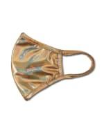 Copper Foil Fashion Mask - Copper - Detail