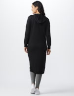 French Terry Duster Hoodie - Misses - Black - Back